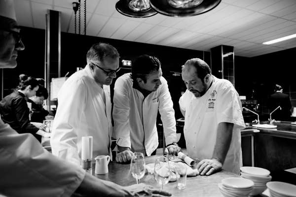 Discussion entre les 3 chefs